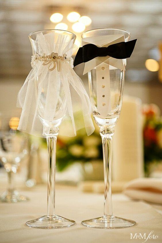 оригинални сватбени чаши