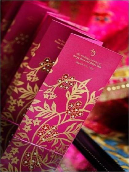красива розова сватбена покана