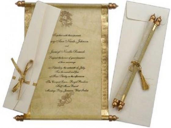 свитък сватбена покана