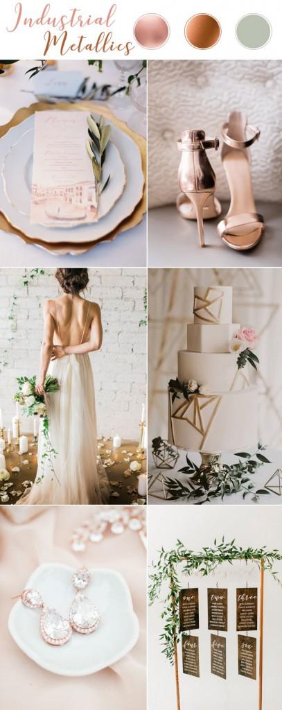 Сватбена украса тип Индустриален металик