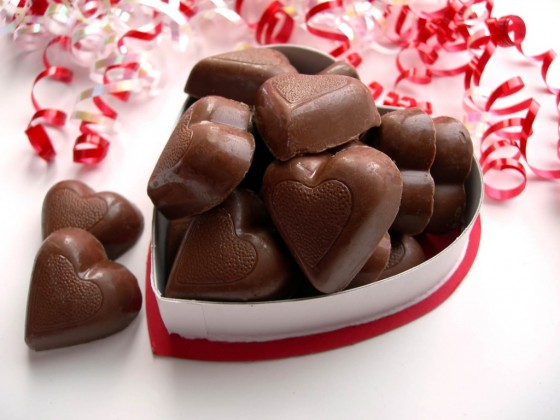 шоколадови бонбони романтични подаръци
