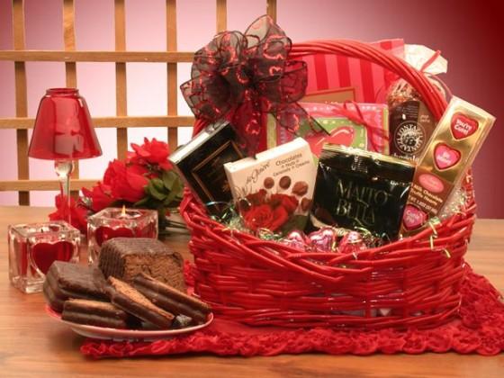 кошница за св. валентин