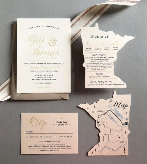покани за сватба тип карта