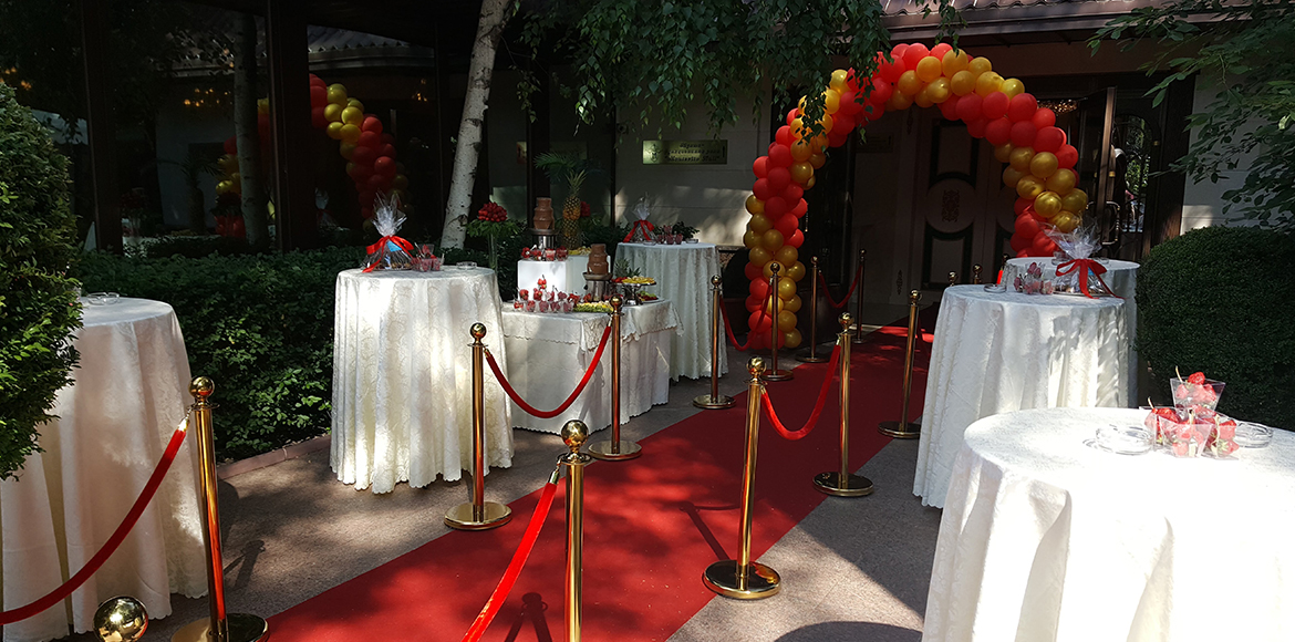 Montecito wedding red carpet